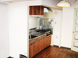 練馬区での事例。施工前の写真。キッチン105万円を実質負担¥0でリフォーム